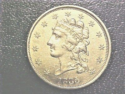 1835 $2 1/2 Classic Head Gold..Choice AU..Great Type Set Coin