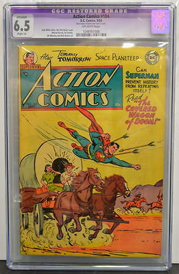 ACTION COMICS #184 CGC 6.5 Superman 1953 Extremely Rare in grade
