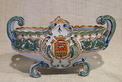 Quimper Oval Jardiniere with Handles