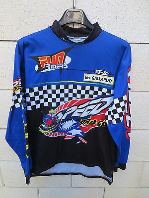 Maillot MOTO CROSS FUN RIDERS Noret SPEED TRACK shirt damier 2 M