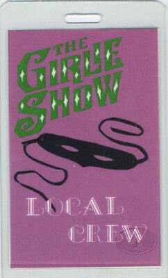 MADONNA 1993 GIRLIE SHOW LAMINATED BACKSTAGE PASS Crew