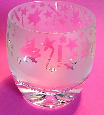 Wylie Ponder Etched Cosmic Flying Pigs Texas Art Glass Rocks Lowball Signed