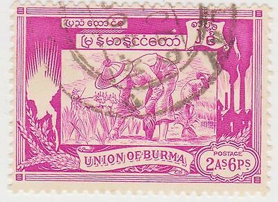 (Q6-104) 1949 India 2As 6Ps violet