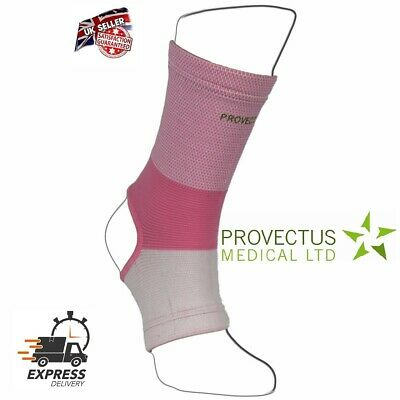 Ankle Foot Support Anklet Pads Brace Guard Gym Sport Sock Protector Shin Pink