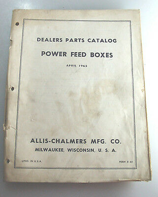 Vintage Allis-Chalmers Power Feed Boxes Dealer Parts Catalog