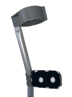 Crutch Handle Padded Covers HIGH QUALITY Cushioned Foam Pad - Black Spots