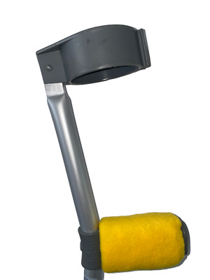 Crutch Handle Padded Covers HIGH QUALITY Cushioned Foam Pad - Yellow