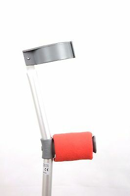 Crutch Handle Padded Covers HIGH QUALITY Cushioned Foam Pad - Coral
