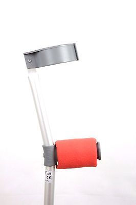 Padded Handle Comfy Crutch Covers/pads - Coral