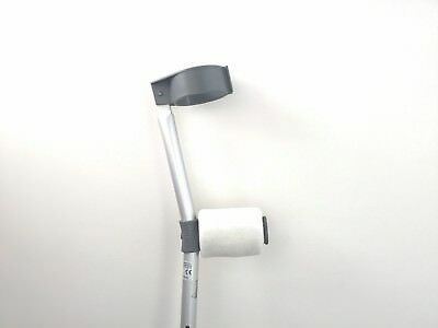 Padded Handle Comfy Crutch Covers/pads - Cream Fleece
