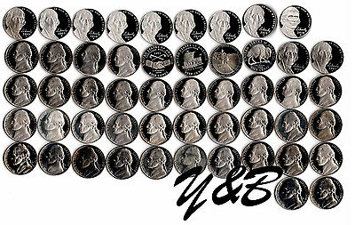 1968 - 2015 S Jefferson Nickel Proof Run 50 Coin Set US Mint Complete set