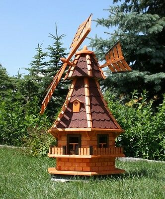 Large Windmill with solar lighting type 6.1 Selection of 4 Roof colours