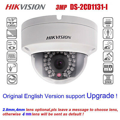DS-2CD3132F-IW HIKVISION 3MP 1080P HD POE 4mm IR Outdoor Dome Network IP Camera