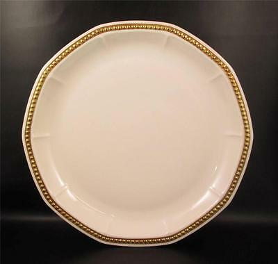 Hutschenreuther Porcelain Chevalier Gold Chop Plate Beaded Edge  (&)