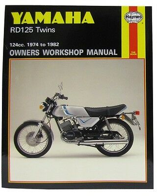 *NEW Haynes Manual For Yamaha RD125DX Twin 1974-1982