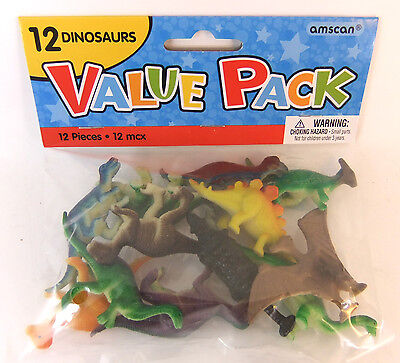 Bag Of Mini Plastic Dinosaurs 12 Pack Brand New Party Bag Toys - Favours