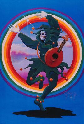 POSTER:ART:MUSIC: GRATEFUL DEAD - DANCING JESTER by MOUSE  - FREE SHIP RP73 X