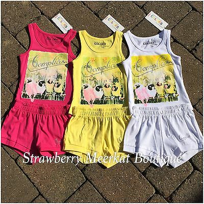 New Girls French Designer Complices Tank Outfit Vest Top Shorts Age 2 3 4 5 6 8