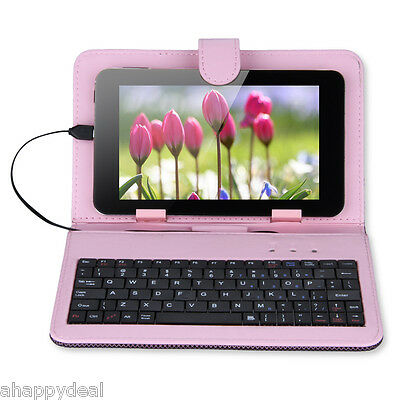 1X Foldable PU Leather Case QWERTY Keyboard for 7inch Tablet PC (Micro USB Port)