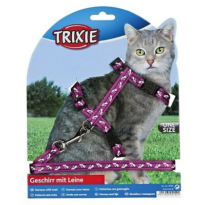 Trixie 4142 Cat Harness for all Cats Nylon 27 to 46 cm / 10 mm 1.2m lead