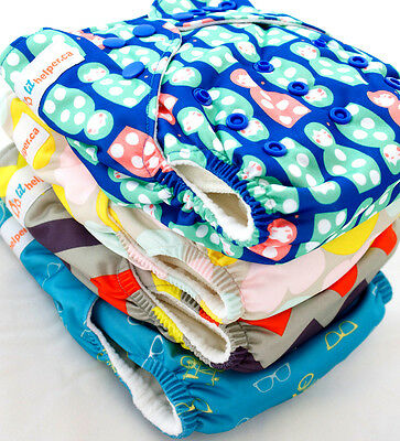 Bamboo Cloth Diaper & Inserts - All-In-2 Reusable Washable - Lil Helper Diapers