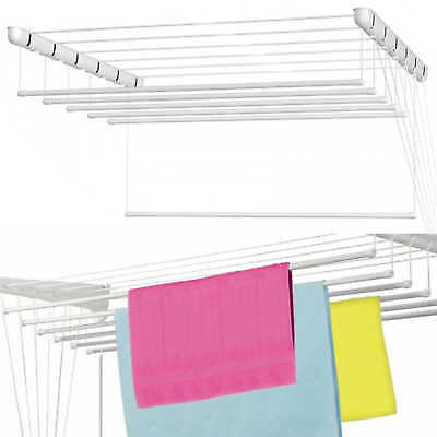 White Ceiling Dryer Pulley Airer Clothes Laundry 5 to 9.80m Drying Space  Drier