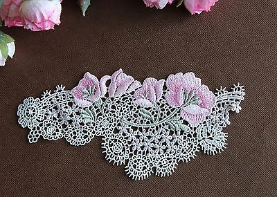 beautiful pink flower  sewing applique