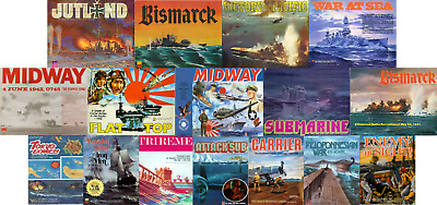 Avalon Hill Naval Games Collection PDF Reference DVD 16 Games + Free P+P