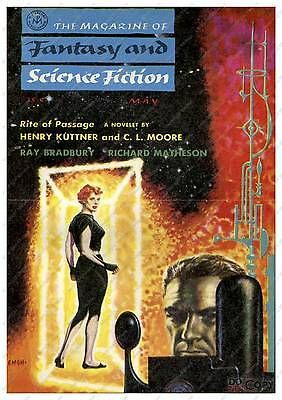Magazine of Fantasy & Science : Magazine cover Poster reproduction