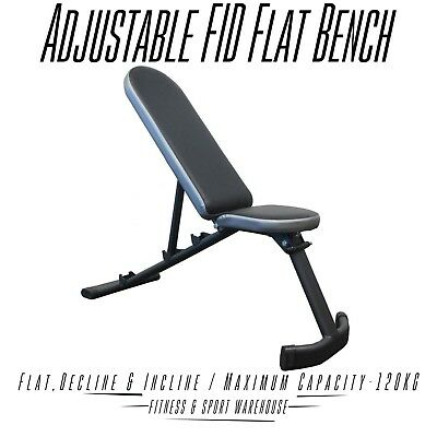 NEW Adjustable FID Incline & Decline Flat Bench Press Fitness Gym Equipment Gear