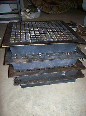 4 available massive heavy heating grates simple squares design (G 120)
