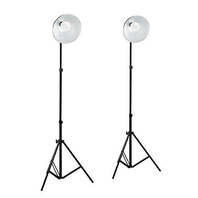 2 New Photo Video Studio Continuous Sparkler Dome Light Kit 2M Stand For Tent