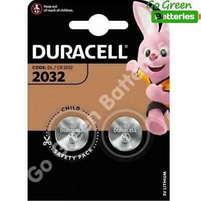 2 x Duracell CR2032 3V Lithium Coin Cell Battery 2032 button DL2032 SB-T15 NEW