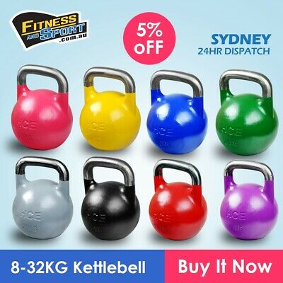 NEW Competition Kettlebell 8KG - 24KG Fitness Gym Strength Training Equipment