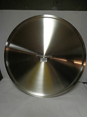 New Browne-Halco 60 Cm S/s Lid W Handle Ss7-60 Pot / Stainless 55 Gal Barrel Lid