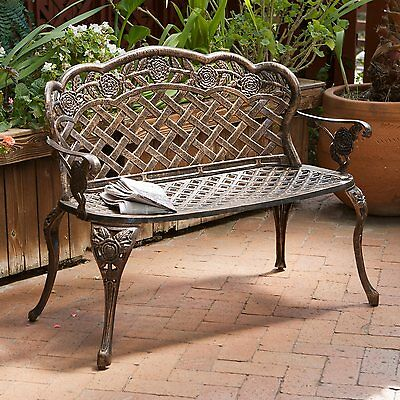 Best Selling Home Decor 231885 45.5-in L Aluminum Patio Bench