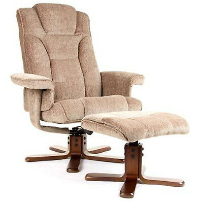 Lloris Swivel Recliner Chair Rotating Armchair with Footstool