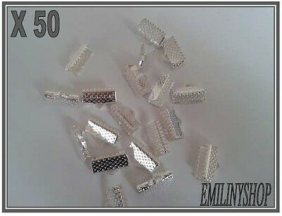lot 30 attaches ruban pince fermoir griffe embout   bijoux 20x8x5mm argenté