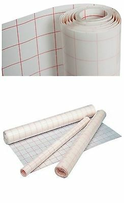 3xSelf Adhesive Clear Sticky Back Plastic Film Grid Cover Exercise Book 30cmx1M