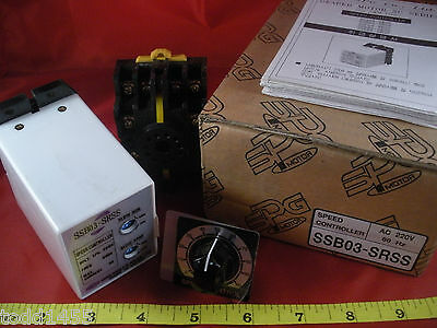 SPG Motor SSB03-SRSS Speed Controller SRS3 Relay RV24YN 20S Omron 11PFA Base New