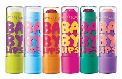 2 x Maybelline Baby Lips Moisturising Lip Balm Choose Your Flavour Combo!