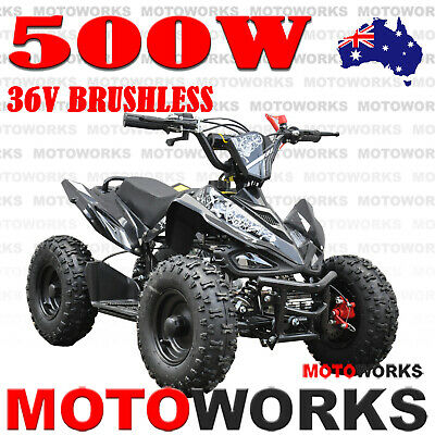 500W ELECTRIC QUAD ATV Bike Motoworks SPORTS Gokart 4 Wheeler mini Buggy kids bk