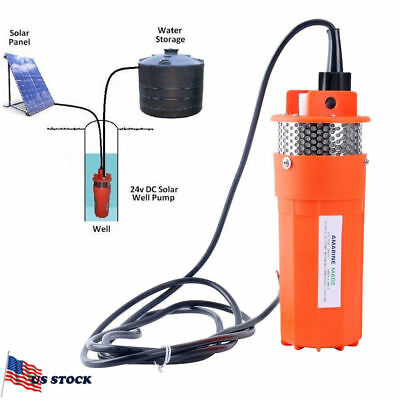 Farm & Ranch SOLAR POWERED Submersible DC Water Well Pump 24v 230FT+ Lift -BM