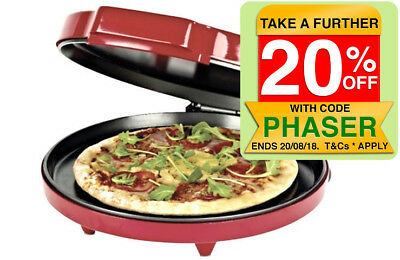 30cm Pizzeria Electric Pizza toaster Oven Maker/Cooker Non-stick Tray/Plate/pan