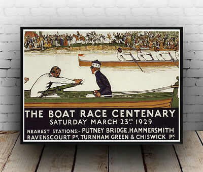 Boat Race 1929 - Old Vintage Travel Poster Reproduction, Wall Art