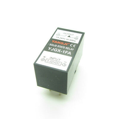 PCB Mount 1A SSR Solid State Relay DC Control AC Input DC3-32V Output AC0-240V