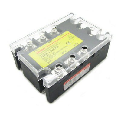 25A 3 Phase SSR Solid State Relay DC Control AC In DC3-32V Out AC24-480V D4825A