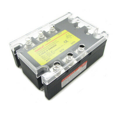 40A 3 Phase SSR Solid State Relay DC Control AC In DC3-32V Out AC24-480V D4840A