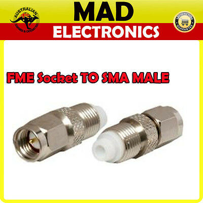 Quality FME Female Socket to SMA Male Plug Adapter - SMA to FME Converter