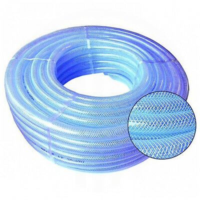 CLEAR REINFORCED PVC BRAIDED HOSE FOOD GRADE FUEL OIL WATER GASSES AIR 19MM
